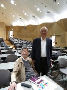 Prof. Emeritus Masatake Kuranishi (Columbia Univ.) and Prof. Shing-Tung Yau