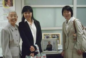 From left: Mrs. Yukiko Kobayashi, Ms. Eriko Shinozaki and Prof. Makiko Tanaka